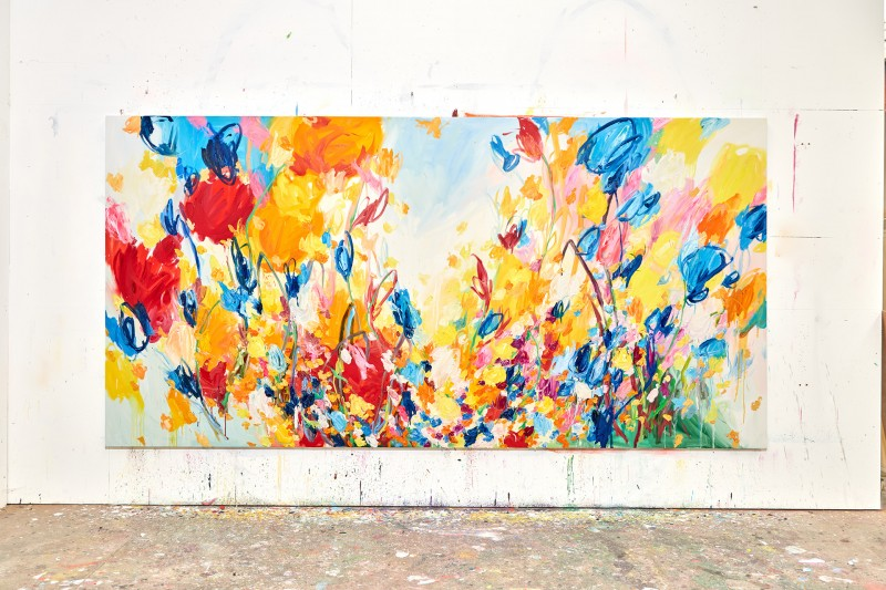 Wildflower Fields painting